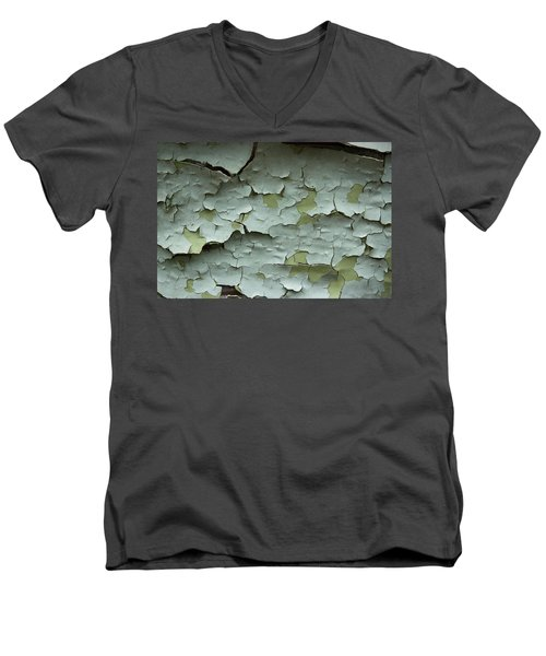 Men's V-Neck T-Shirt featuring the photograph Peeling 2 by Mike Eingle