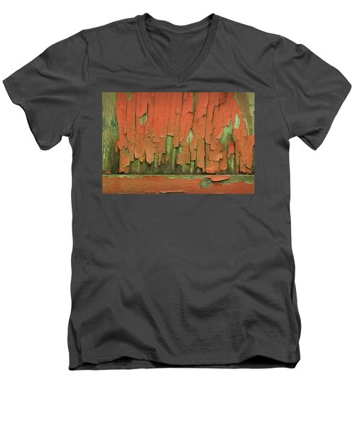 Men's V-Neck T-Shirt featuring the photograph Peeling 4 by Mike Eingle