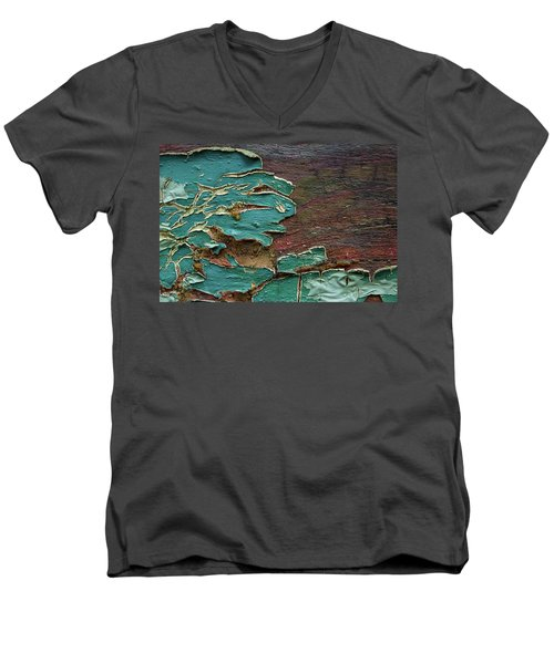 Men's V-Neck T-Shirt featuring the photograph Peeling by Mike Eingle
