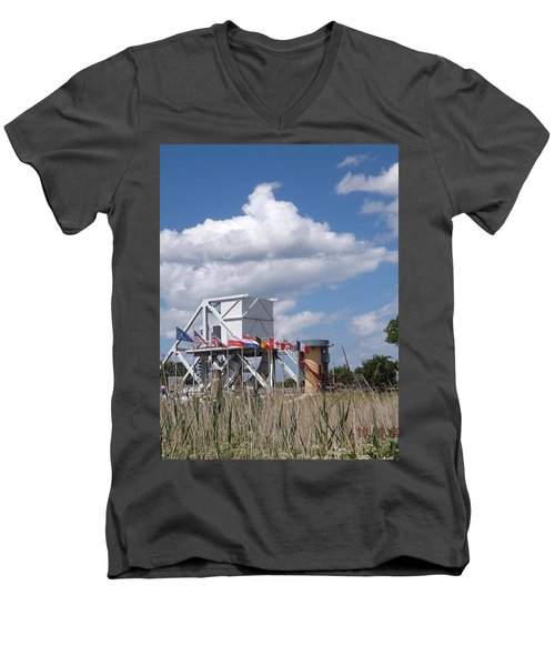 Pegasus Bridge Men's V-Neck T-Shirt