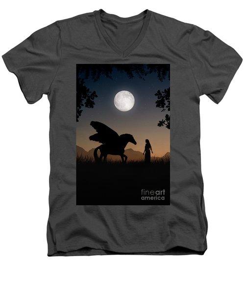 Pegasus Men's V-Neck T-Shirt