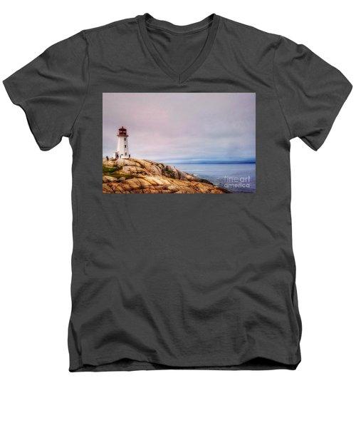 Peggys Point Lighthouse Men's V-Neck T-Shirt