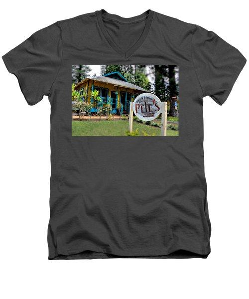 Pele's Lanai Style Men's V-Neck T-Shirt