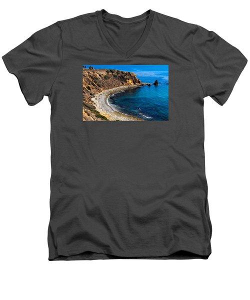 Pelican Cove Men's V-Neck T-Shirt by Ed Clark