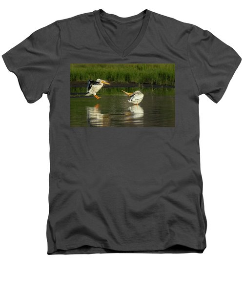 Pelicans 2 Men's V-Neck T-Shirt