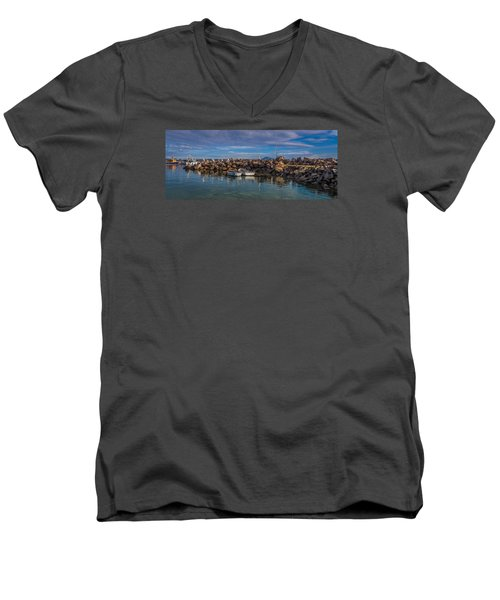 Pelicans At Eden Wharf Men's V-Neck T-Shirt