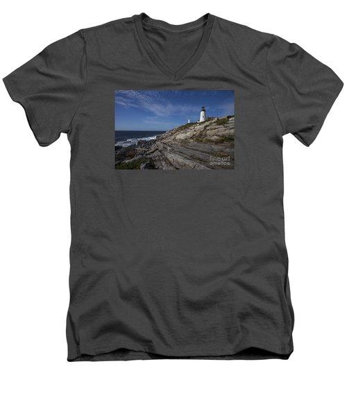 Pemaquid Lightouse Men's V-Neck T-Shirt