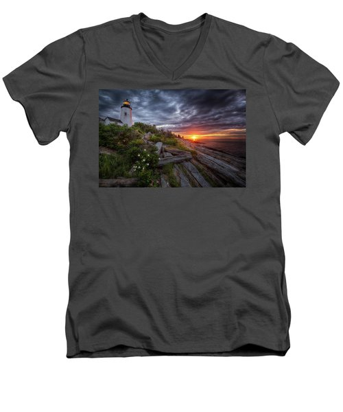 Pemaquid Sunrise Men's V-Neck T-Shirt