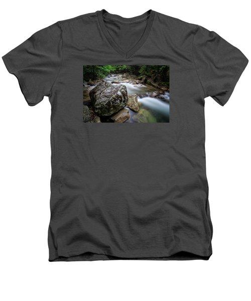 Pemi-basin Trail Men's V-Neck T-Shirt by Michael Hubley