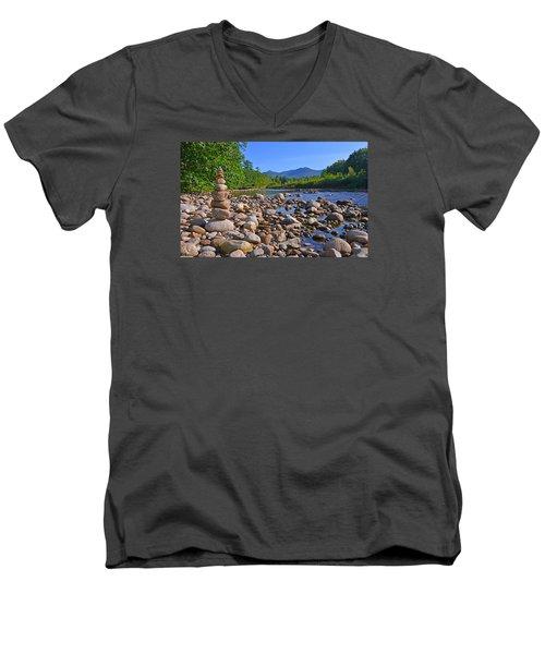 Pemigewasset River, North Woodstock Nh Men's V-Neck T-Shirt