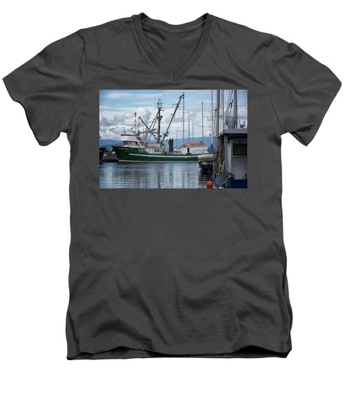 Pender Isle At French Creek Men's V-Neck T-Shirt by Randy Hall