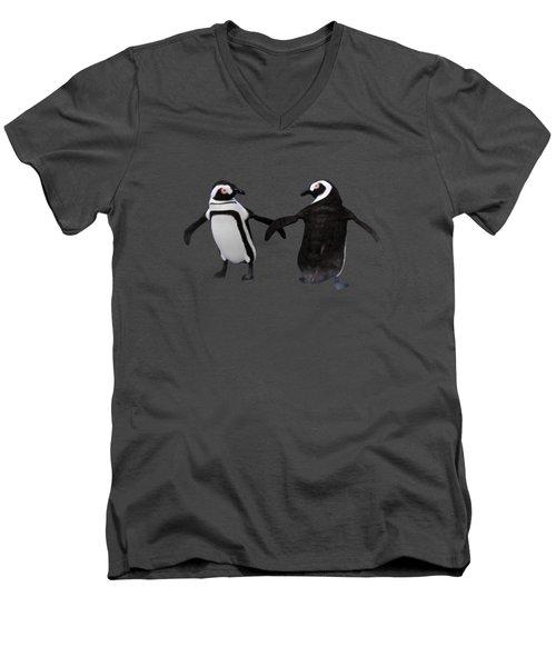 Penguin Dance Men's V-Neck T-Shirt