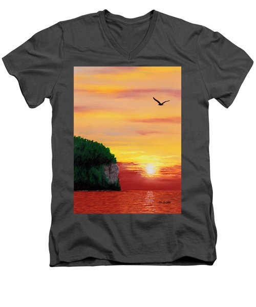 Peninsula Park Sunset Men's V-Neck T-Shirt