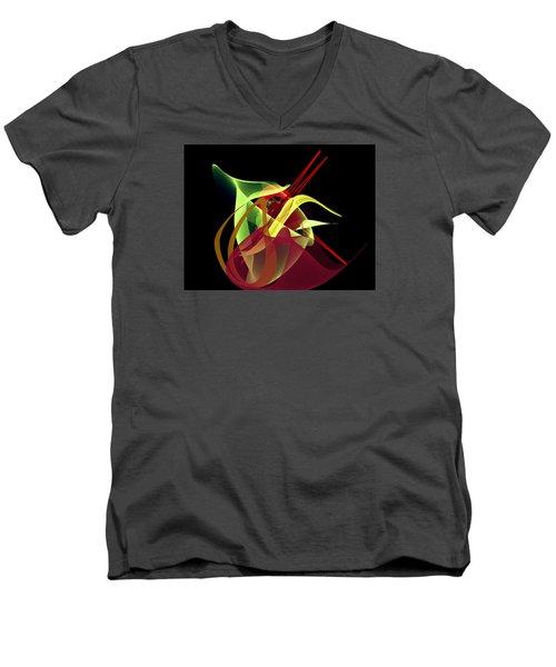 Penman Original-266- Chikakos Dinner Men's V-Neck T-Shirt by Andrew Penman