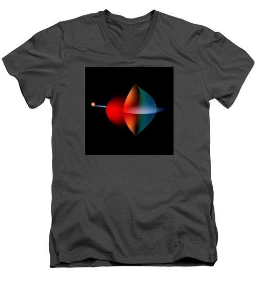 Penman Original-350 Solar Power Men's V-Neck T-Shirt by Andrew Penman