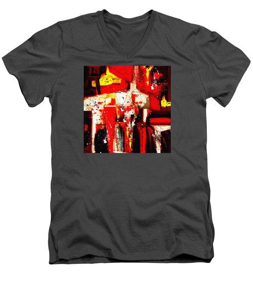 Penman Original-413 Men's V-Neck T-Shirt by Andrew Penman