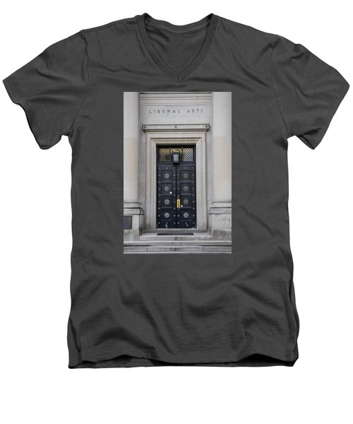 Penn State University Liberal Arts Door  Men's V-Neck T-Shirt by John McGraw