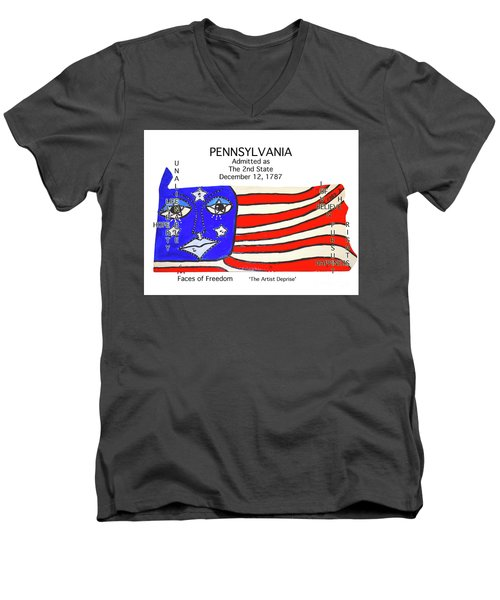 Pennsylvania Men's V-Neck T-Shirt