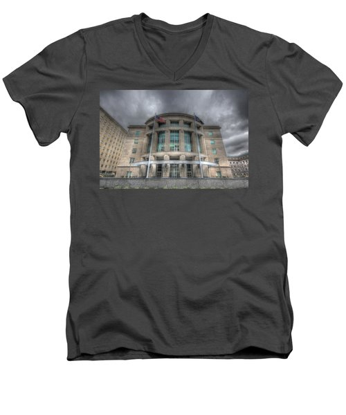 Pennsylvania Judicial Center Men's V-Neck T-Shirt