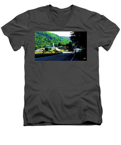 Pennsylvania Mountain Village Men's V-Neck T-Shirt