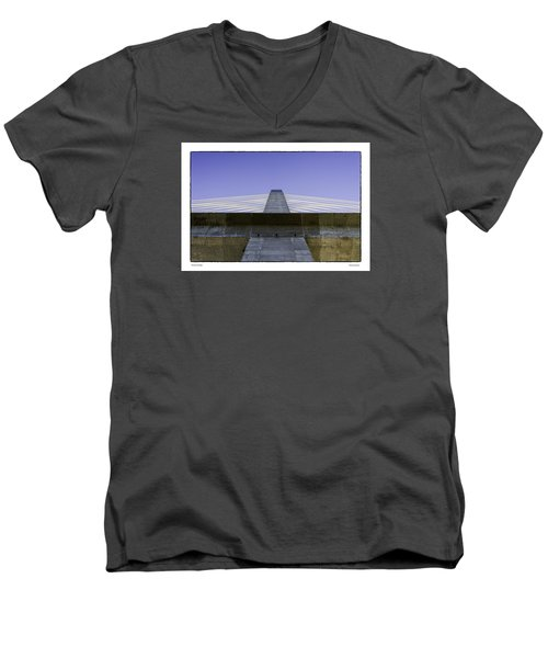 Men's V-Neck T-Shirt featuring the photograph Penobscot Bridge by R Thomas Berner