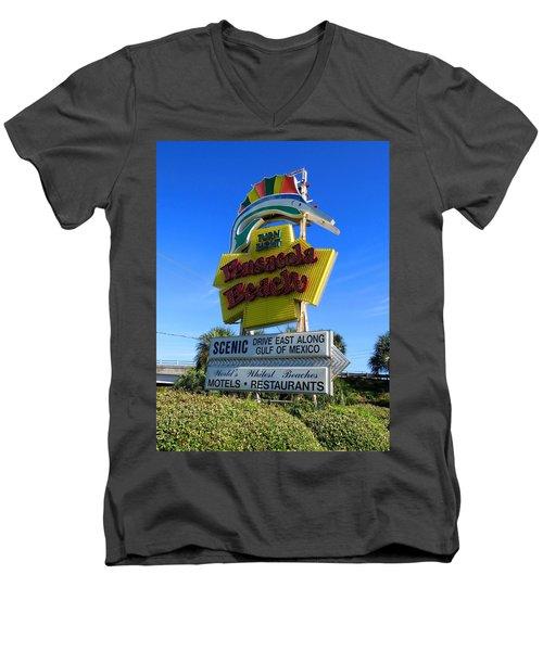 Pensacola Beach Sign Men's V-Neck T-Shirt