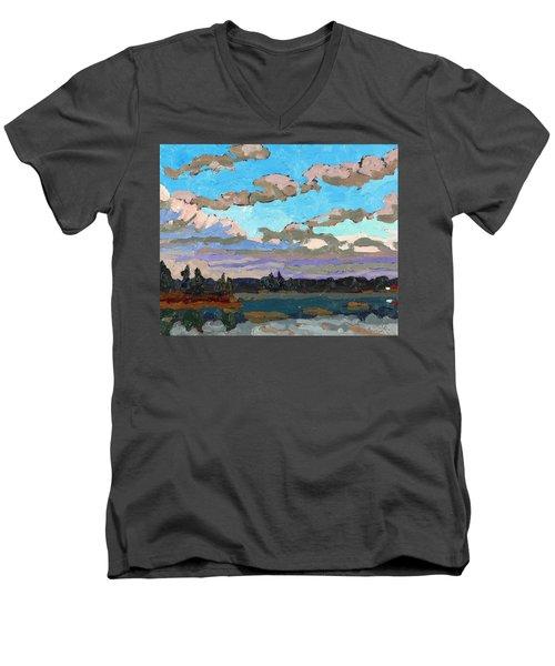 Pensive Clouds Men's V-Neck T-Shirt