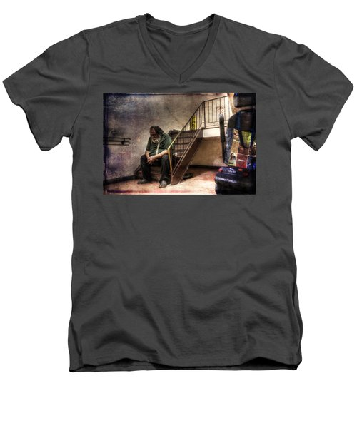 Penury - A Work In Progress Men's V-Neck T-Shirt