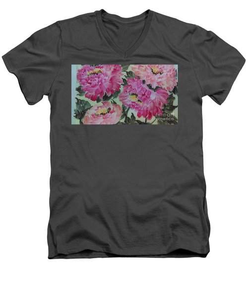 Peoney20161229_4 Men's V-Neck T-Shirt