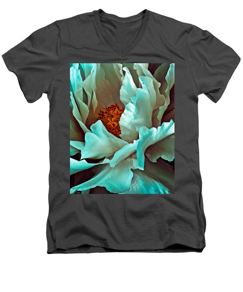 Peony Flower Men's V-Neck T-Shirt