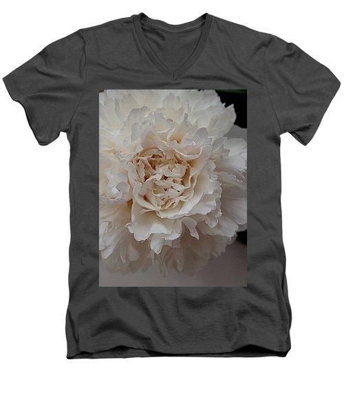 Peony Petals Men's V-Neck T-Shirt by Nancy Kane Chapman