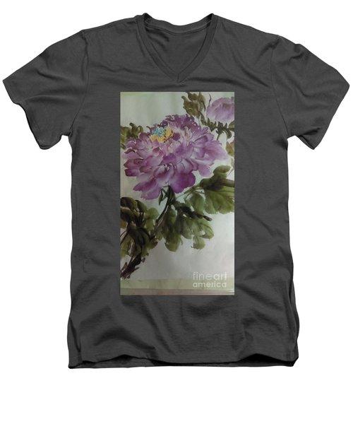 Peony20170126_1 Men's V-Neck T-Shirt