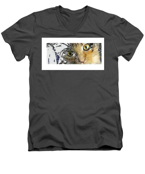 Pepper Eyes Men's V-Neck T-Shirt by Deborah Nakano