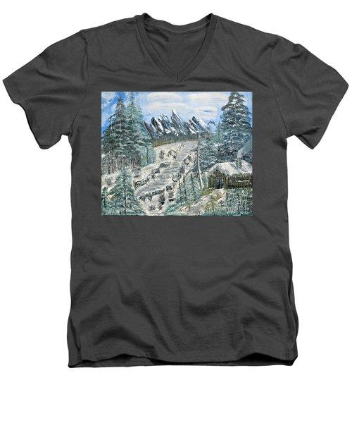 Per Il Mio Figlio Men's V-Neck T-Shirt