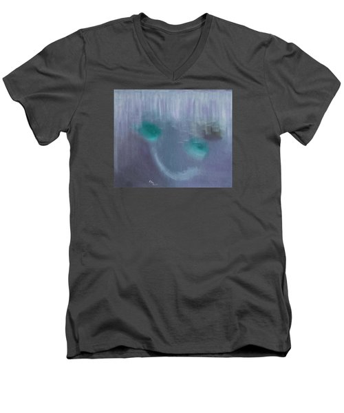 Men's V-Neck T-Shirt featuring the painting Perception Of Life by Min Zou