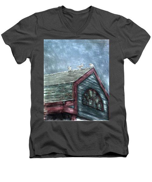 Perched Men's V-Neck T-Shirt