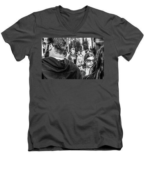 Men's V-Neck T-Shirt featuring the photograph Percolate by David Sutton