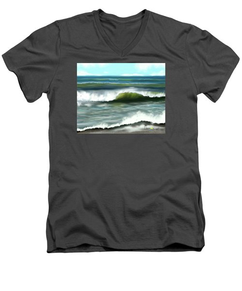 Men's V-Neck T-Shirt featuring the digital art Perfect Day by Dawn Harrell
