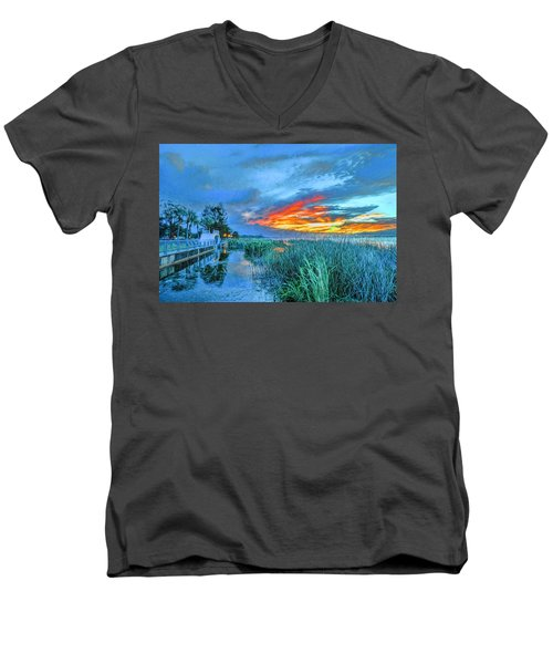 Perfect End Of Day. Men's V-Neck T-Shirt