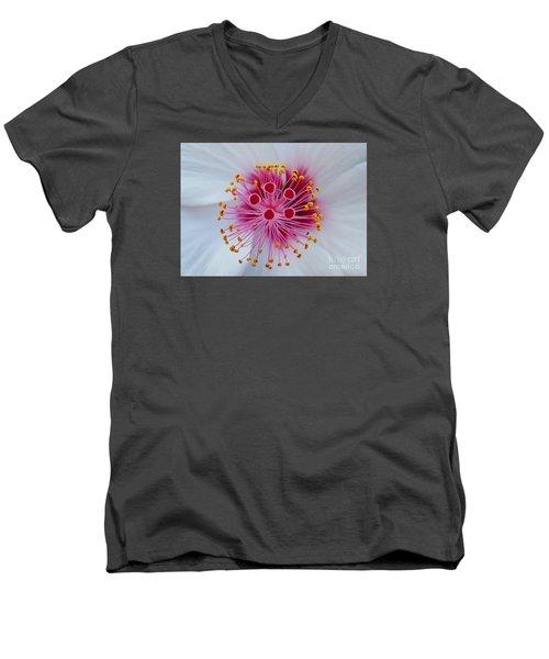 Perfect Flower Pestle Men's V-Neck T-Shirt by Jasna Gopic