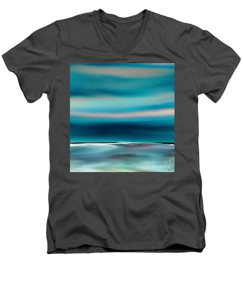 Men's V-Neck T-Shirt featuring the digital art Perfect Moment by Yul Olaivar