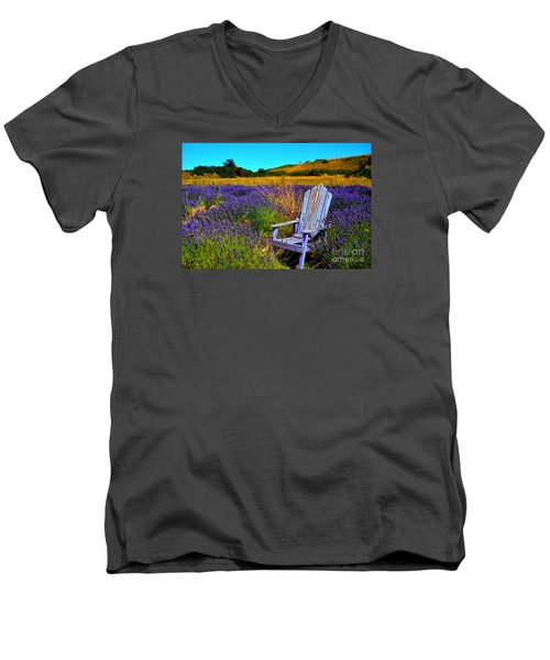 Perfect Purple  Men's V-Neck T-Shirt by Tanya  Searcy