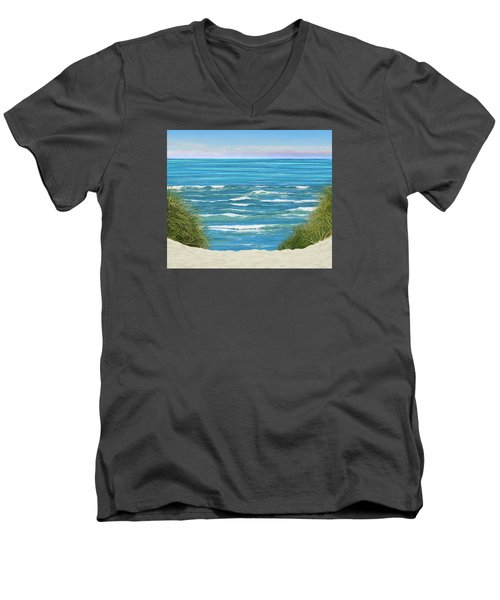 Men's V-Neck T-Shirt featuring the photograph Perfect Seas by Adria Trail