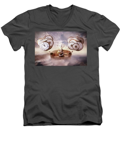 Men's V-Neck T-Shirt featuring the digital art Perfect Timing  by Nathan Wright