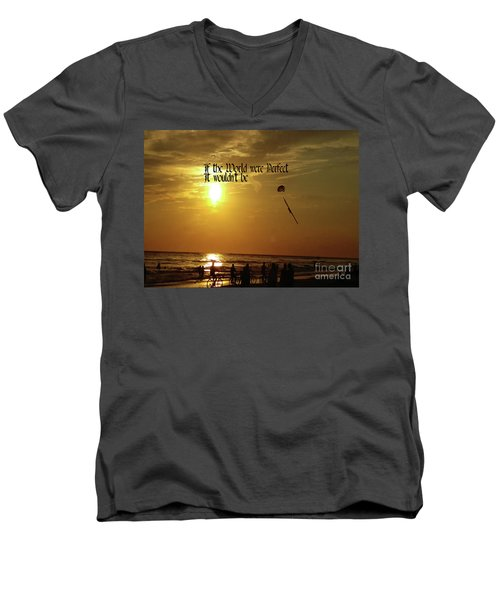 Men's V-Neck T-Shirt featuring the photograph Perfect World by Gary Wonning