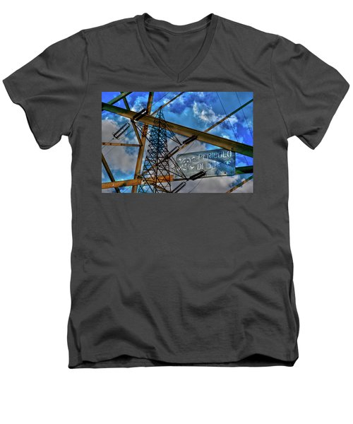 Men's V-Neck T-Shirt featuring the photograph Pericolo Di Morte by Sonny Marcyan