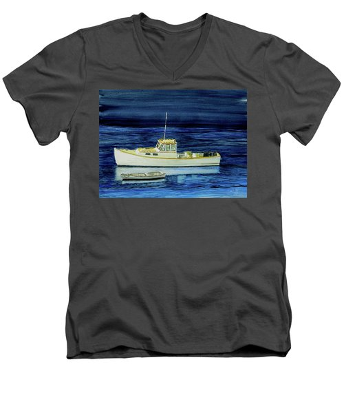 Perkins Cove Lobster Boat And Skiff Men's V-Neck T-Shirt
