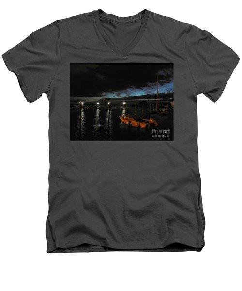 Perkins Pier Sunset Men's V-Neck T-Shirt