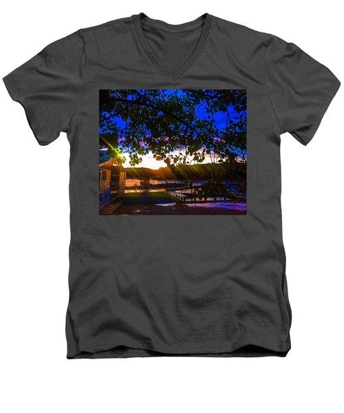 Permanently Closed 717 Men's V-Neck T-Shirt