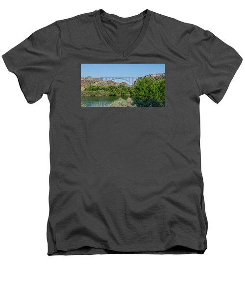 Perrine Bridge At Twin Falls Men's V-Neck T-Shirt